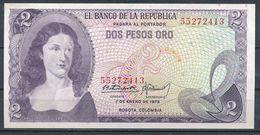 °°° COLOMBIA - 2 PESOS ORO 1973 UNC °°° - Colombia