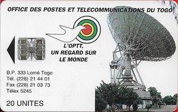 Τogo - Earth Station - SC7, Cn. C55 Red Bottom 9 Numbers, 1995, 20Units, Used - Togo