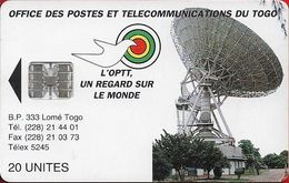 Τogo - Earth Station - SC7, Cn. 002 Red Bottom 8 Numbers, 1995, 20Units, Used - Togo