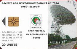 Togo - Earth Station - Gem1A Symm. Black, Cn. Black, 1995, 20Units, Used - Togo
