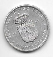 Belguim Congo Ruanda Urundi 5 Francs 1958 Km 3  Vf+ - 1951-1960: Boudewijn I