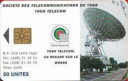 Togo - Earth Station - Gem1A Symm. Black, Cn. Black, 1995, 50Units, Used - Togo