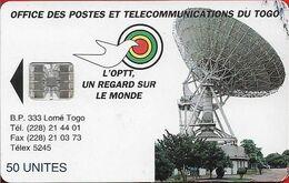Togo - Earth Station - SC7, No Schlumberger Logo, 1995, 50Units, Used - Togo