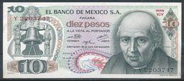 °°° MEXICO - 10 PESOS 1974 AUNC °°° - Mexique