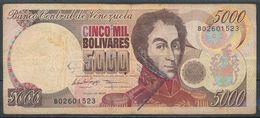 °°° VENEZUELA - 5000 BOLIVARES 1996 °°° - Venezuela