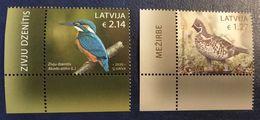 Latvia Lettland Lettonie 2020 Birds - Hazel Grouse - Common Kingfisher  MNH  + 2 BORDER -B - VARIANT - Latvia