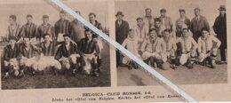 VOETBALSPORT..1933.. BELGICA - CLUB RONSSE / HET ELFTAL VAN BELGICA EN RONSSE - Non Classés