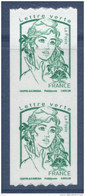 N° 1257 Marianne Ciappa Adhésif Roulette Verte Année 2016, Valeur Faciale Lettre Verte X2 - France