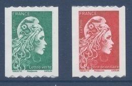 N° 1601 & 1602 Marianne D'Yz Adhésif Roulette Année 2018 Faciale LV+LP - France