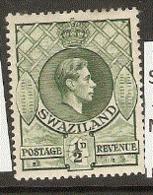 Swaziland   1938  SG 28a 1/2d  Perf 13,1/2 X14  Mounted Mint - Swaziland (...-1967)