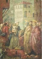 Art - Peinture Religieuse - Masaccio - Distribution Des Biens - CPM - Voir Scans Recto-Verso - Tableaux, Vitraux Et Statues