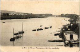 CPA POISSY - La SEINE A POISSY Et Panorama De CARRIERES-sous (102934) - Carrieres Sous Poissy