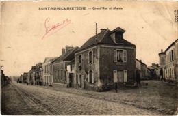 CPA St-NOM-La-BRETECHE - Grand'Rue Et Mairie (102996) - St. Leger En Yvelines