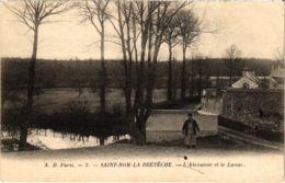CPA St-NOM-La-BRETECHE - L'Abreuvoir Et Le Lavour (102997) - St. Leger En Yvelines