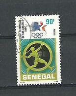XXIII  E JEUX OLYMPIADE DE LOS ANGELES 1984  SENEGAL 90F POSTES OBLITÉRÉ - Athletics