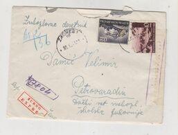 CROATIA, WW II ZAGREB 1943 Registred Priority Censored Cover - Croazia
