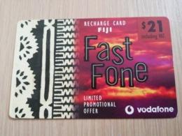 FIDJI  PREPAID $ 21,- FAST PHONE  VODAFONE  FINE USED CARD **2748** - Figi