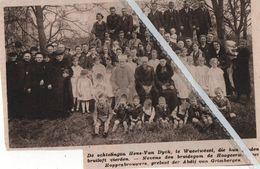 WUESTWEZEL..1933.. GOUD BIJ DE ECHTELINGEN HENS-VAN DIJCK / HEER HOPPENBROUWERS PRELAAT DER ABDIJ VAN GRIMBERGEN - Oude Documenten