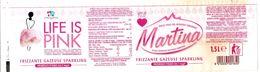 MARTINA 1,5 L ACQUA FRIZZANTE ETICHETTA PLASTICA  ITALY - Etichette