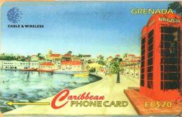 Grenada - GPT, GRE-317A, 317CGRA, Carenage St Georges, C&W Logo, 20 EC$, 10,000ex, 1999, Used As Scan - Grenada