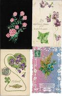FLEURS - LOT DE 80 CARTES PETITS FORMATS (voir Scan) - Relief -  Paillettes Etc... - 5 - 99 Postcards