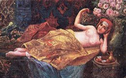 ÉROTISME / SEXY / FEMME NUE / NAKED WOMAN : ORIENTALIN / ORIENTALE Par R. KENDLER - EMGE SALON ~ 1910 (af203) - Tableaux