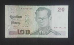 RS - Thailand 20 Baht Banknote 2003 #7D 9043853 XF+ - Tailandia