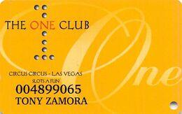 One Club Slot Card - Circus Circus & Slots A Fun Casino - Las Vegas, NV - Casino Cards
