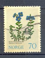 Oblitéré -  Fleurs Veronica Fruticans - NORVEGE NORGE - 1973 - Y&T NO 628 (Michel NO 672) - Norwegen