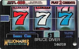 The Mill Casino North Bend Oregon - Slot Card - On Coos Bay, Oregon Under Reverse Logo - Casino Cards