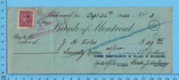 3¢ War Issue - Cheque 1944,  $29.65 To J.H. Coles From School Commissioners Melborne, Richmond P. Quebec - 1937-1952 Regno Di George VI