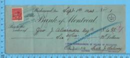 3¢ War Issue - Cheque 1943, $6.50 To Gée J. Alexander Reg From School Commissioners Melborne, Richmond P. Quebec - 1937-1952 Regno Di George VI