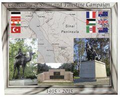 (E 14) Australia -  Maxicard - 2015 - Centenary Of Sinai & Palestine Campaign (Red Cross Postmark) - Cartes-Maximum (CM)