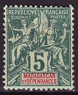 Madagascar - Madagaskar 1896-99 Y&T N°31 - Michel N°31 * - 5c Type Sage - Ungebraucht