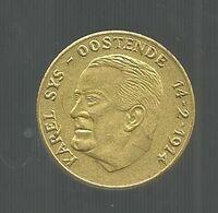 Médaille , Belgique , Karel SYS ,OOSTENDE , 14-2-1914 , 1830-1980 , Geldigheidssatum , 20-31  12 1980 , 2 Scans - Bélgica