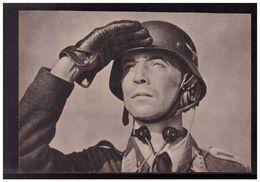 DT- Reich (008917) Propagandakarte Flakartillerist Mit Kopfhörer Und Kehlkopfmikrophon, Ungebraucht - Germany