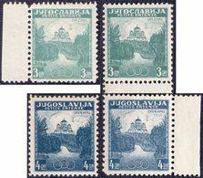 """KINGDOM JUGOSLAVIA - ERROR """"VARIOUS COLOR"""" ENTANTA BALKAN  OPLENAC - **MNH - 1937 - 1931-1941 Royaume De Yougoslavie"""