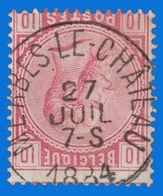 """COB N° 38 - Très Belle Oblitération - """" MERBES-LE-CHÂTEAU"""" - 1883 Leopold II"""