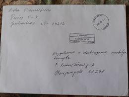 Lithuania Litauen Cover Sent From Jurbarkas To Marijampole 2020 - Lithuania