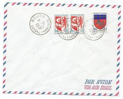 BLASON 5C AUCH PAIRE+ 20C ST LO TAD ROURA 28.2.1967 GUYANE FRANCAISE NON CIRCULEE - 1941-66 Wappen