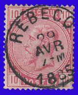 "COB N° 38 - Très Belle Oblitération - ""REBECQ"" - 1883 Leopoldo II"