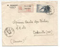 N° 764 SEUL LETTRE REC PAVILLONS S BOIS 9.5.1948  POUR LE CANADA TARIF RELATIONS 2EME RARE - Marcophilie (Lettres)