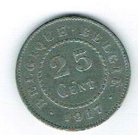 Belgique Albert I 25 Cents 1917 - 1909-1934: Albert I.