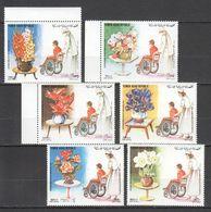 XX060 1982 YEMEN HEALTH INTERNATIONAL YEAR OF HANDICAPS FLOWERS MICHEL #1711-6 22 EURO 1SET MNH - Handicaps