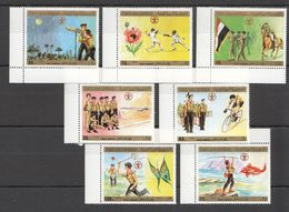 XX068 1980 YEMEN ORGANIZATIONS SCOUTING WORLD JAMBOREE MICHEL #1610-6 19 EURO 1SET MNH - Scouting