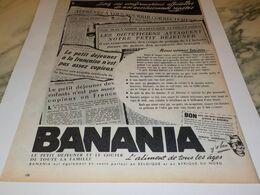 ANCIENNE PUBLICITE PETIT DEJEUNER  BANANIA  1958 - Affiches