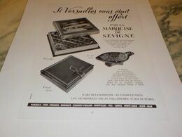 ANCIENNE PUBLICITE CONFISERIE  MARQUISE DE SEVIGNE 1955 - Affiches