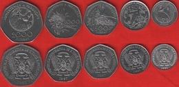"""Sao Tome And Principe Set Of 5 Coins: 100 - 2000 Dobras 1997 """"FAO"""" UNC - Sao Tomé E Principe"""
