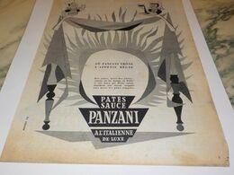 ANCIENNE PUBLICITE HEUREUSE UNION PATES SAUCE  PANZANI 1953 - Affiches