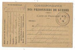 CARTE FM PRISONNIERS DE GUERRE BUREAU RENSEIGNEMENTS PARIS 7.11.18 + CENSURE POUR ALLEMAGNE - Cartes De Franchise Militaire
